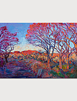 cheap -Oil Painting Hand Painted - Landscape Modern Rolled Canvas
