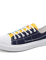 cheap -Men's Comfort Shoes Canvas Fall & Winter Casual Sneakers Color Block Black / Red / Blue
