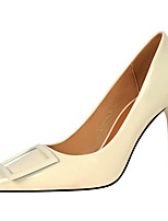 cheap -Women's Heels Stiletto Heel Pointed Toe Synthetics Sweet / Minimalism Spring &  Fall / Spring & Summer Black / White / Yellow / Daily / 3-4