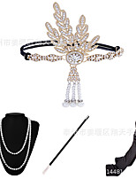 cheap -Head Jewelry Necklace Gloves Necklace Outfits Retro Vintage 1920s The Great Gatsby Alloy For The Great Gatsby Cosplay Halloween Carnival Women's Costume Jewelry Fashion Jewelry / Headwear / Headwear