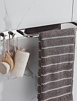 abordables -Ensemble d'accessoires de salle de bain à forte viscosité sans barre de serviette de forage avec deux crochets antirouille auto-adhésif en acier inoxydable 304 # 3m01