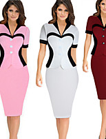 cheap -The Marvelous Mrs. Maisel Retro Vintage 1950s Wasp-Waisted Dress Women's Cotton Costume White / Blushing Pink / Burgundy Vintage Cosplay Party Daily Wear Long Sleeve Midi