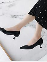 cheap -Women's Heels Stiletto Heel Pointed Toe PU Spring & Summer Black