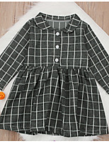 cheap -Kids Girls' Plaid Dress Gray