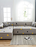 cheap -Triangle Print Dustproof All-powerful Slipcovers Stretch L Shape Sofa Cover Super Soft Fabric Couch Cover with One Free Pillow Case