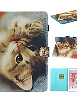 cheap -Case For Apple iPad Air / iPad (2018) / iPad 10.2''(2019) Card Holder / with Stand / Flip Full Body Cases Cat PU Leather For iPad Pro 10.5/iPad Air 2/iPad 2017