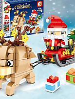 cheap -Building Blocks 200-400 pcs Santa Claus Christmas Santa Suits compatible Legoing Simulation All Toy Gift / Kid's