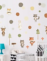 cheap -Decorative Wall Stickers - Plane Wall Stickers / Animal Wall Stickers Animals / Floral / Botanical Nursery / Kids Room