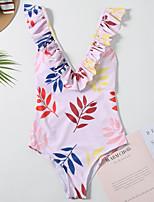 cheap -Women's Basic Blushing Pink Blue Bandeau Cheeky High Waist Bikini Swimwear - Floral Geometric Lace up Print S M L Blushing Pink