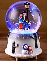 abordables -Boîte à musique Bonhomme de neige Flocon de Neige Bonhomme de neige Rétro Créatif Adorable Caoutchouc 1 pcs Enfant Adulte Tous Jouet Cadeau