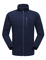 cheap -Men's Hiking Fleece Jacket Winter Outdoor Fleece Lining Warm Comfortable Winter Fleece Jacket Single Slider Climbing Camping / Hiking / Caving Winter Sports Blue / Grey / Dark Navy / Dark Blue