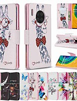 cheap -Case For Huawei Huawei P30 / Huawei 30 Pro / Huawei P30 lite Wallet / Card Holder / with Stand Full Body Cases Giraffe PU Leather / TPU for Mate 30 Lite / Mate 30 Pro / Honor 10 Lite