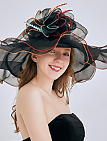cheap -Queen Elizabeth The Marvelous Mrs. Maisel Retro Vintage Kentucky Derby Hat Fascinator Hat Women's Organza Costume Hat Black / White / Purple Vintage Cosplay Party Party Evening