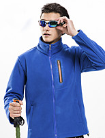 cheap -Men's Hiking Fleece Jacket Winter Outdoor Fleece Lining Warm Comfortable Winter Fleece Jacket Single Slider Climbing Camping / Hiking / Caving Winter Sports Royal Blue / Light Grey / Dark Navy