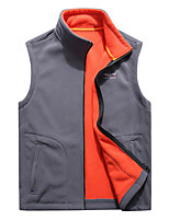 cheap -Men's Hiking Fleece Jacket Winter Outdoor Fleece Lining Warm Comfortable Vest / Gilet Single Slider Climbing Camping / Hiking / Caving Winter Sports Black / Blue / Grey