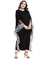 cheap -Adults' Women's Abaya Dress For Party Lace Cotton Lace Halloween Carnival Masquerade Dress