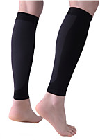 cheap -Leg Sleeves Calf Support Calf Compression Sleeves Sporty for Running Marathon Elastic Breathable Sweat-wicking Men's Women's Nylon 1 Pair Sports Black