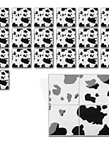 cheap -Fun life 10*10cm*19pcs Leopard Print Self-Adhesive Waterproof DIY Wall Art Home Kitchen Bedroom Bathroom kitchen Tile Sticker Wall Sticker