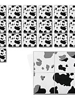 cheap -Fun life 10*10cm*19pcs Leopard Print Self-Adhesive Waterproof DIY Wall Art Home Kitchen Bedroom Bathroom kitchen Tile Sticker Wall Sticker