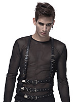cheap -Plague Doctor Retro Vintage Steampunk Harness Belt Men's Costume Black Vintage Cosplay Party