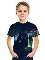 cheap -Kids Boys' Active Street chic 3D Print Short Sleeve Tee Black