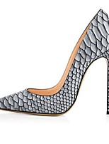 cheap -Women's Wedding Shoes Print Shoes Stiletto Heel Pointed Toe PU Spring & Summer White / Gray