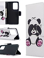 cheap -Case For Samsung Galaxy S20 Ultra / S20 Plus / S10 Plus Wallet / Card Holder / with Stand Full Body Cases Panda PU Leather Case For Samsung S9 / S9 Plus / S8 Plus / S10E /S7 Edge