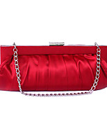 cheap -Women's Tassel / Embossed Polyester / Silk Evening Bag Solid Color Almond / Red