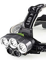 abordables -Lampes Frontales Imperméable 200 lm LED LED 5 Émetteurs avec Chargeur Imperméable Portable Camping / Randonnée / Spéléologie Usage quotidien Cyclisme Noir