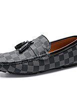 cheap -Men's Moccasin PU Spring / Fall Casual Loafers & Slip-Ons Brown / Gray