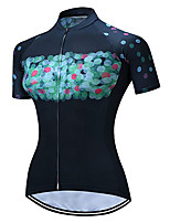 cheap -21Grams Women's Short Sleeve Cycling Jersey 100% Polyester Bule / Black Geometic Bike Jersey Top Mountain Bike MTB Road Bike Cycling UV Resistant Breathable Quick Dry Sports Clothing Apparel