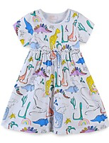 cheap -Kids Girls' Animal Dress White