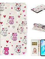 cheap -Case For Huawei P20 Pro / Huawei P20 lite / Huawei P30 Wallet / Card Holder / with Stand Full Body Cases Cat PU Leather For Huawei P30 Lite/P30 Pro/P8 Lite 2017/P10 Lite