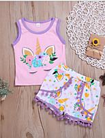cheap -Baby Girls' Street chic Color Block Sleeveless Regular Clothing Set Black