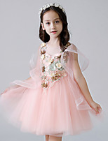 cheap -Princess Dress Girls' Movie Cosplay Cosplay Halloween Pink Dress Halloween Carnival Masquerade Tulle Polyester