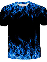 cheap -3-12 Years Old Children Classic Fire Series t-shirt Poker Flame O-Neck Short 3D Printed Male Tee High quality Top Tee