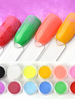 cheap -12 pcs 3D Interface / Universal Glitter Glitter Powder Loose powder For Finger Nail Classic Theme nail art Manicure Pedicure Daily Artistic / Colorful