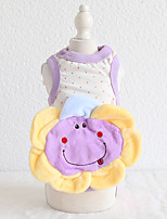 cheap -Dog Costume Hoodie Dog Clothes Breathable White Purple Green Costume Beagle Bichon Frise Chihuahua Cotton Animal Character Flower Casual / Sporty Cute XS S M L XL