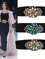 cheap -Elastic / Spandex Fabric Wedding / Night out&Special occasion Sash With Crystals / Rhinestones Women's Sashes
