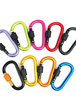 cheap -4Pcs Carabiner Travel Kit Camping Equipment Alloy Aluminum Survival Gear Camp Mountaineering Hook Outdoor Carabiner