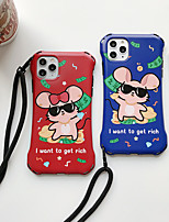 cheap -Case For Apple iPhone 11 / iPhone 11 Pro / iPhone 11 Pro Max Shockproof / Ultra-thin / Pattern Back Cover Solid Colored / Animal / Cartoon PC