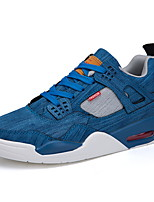cheap -Men's Comfort Shoes Canvas Fall & Winter Sneakers Black / White / Blue