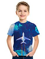 cheap -Kids Boys' Active Street chic 3D Print Short Sleeve Tee Blue