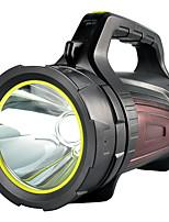 abordables -Lampes de poche 500 lm LED LED 1 Émetteurs avec Câble USB Portable Camping / Randonnée / Spéléologie Usage quotidien Cyclisme Noir