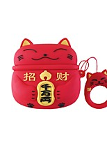 cheap -Lucky Cat Case For AirPods Pro Cute / Shockproof / Dustproof Headphone Case Soft