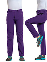 cheap -Women's Hiking Pants Softshell Pants Winter Outdoor Waterproof Windproof Breathable Warm Pants / Trousers Bottoms Camping / Hiking / Caving Traveling Winter Sports Black Purple Fuchsia S M L XL XXL