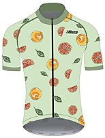 cheap -21Grams Women's Short Sleeve Cycling Jersey 100% Polyester Green / Yellow Fruit Lemon Bike Jersey Top Mountain Bike MTB Road Bike Cycling UV Resistant Breathable Quick Dry Sports Clothing Apparel