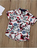 cheap -Kids Boys' Basic Geometric Short Sleeve Shirt Black