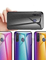 cheap -Case For Samsung Galaxy S9 / S9 Plus / S8 Plus Shockproof / Dustproof / Ultra-thin Back Cover Color Gradient Carbon Fiber