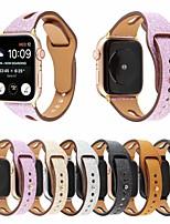 abordables -Bracelet de Montre  pour Apple Watch Series 5/4/3/2/1 Apple Boucle Classique / Bande d'affaires Vrai Cuir Sangle de Poignet